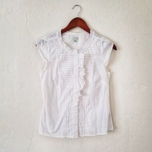 Anthropologie White Button Up Blouse